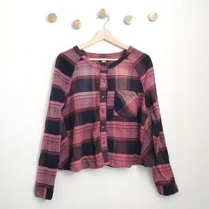BDG Urban Outfitters Plaid Boxy Pink Top | M